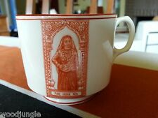 RARE ANTIQUE PURE INDIAN TEA CUP ENGLAND IMAGE FROM TIN TEA BOX FLORAL