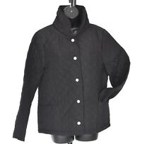 NEW ROWLANDS QUALITY BLACK QUILTED JACKET COAT SIZE L SMART & STYLISH
