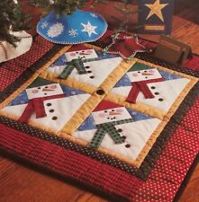 Snowman Patches Quilt Pattern Pieced Wall Or Table Topper