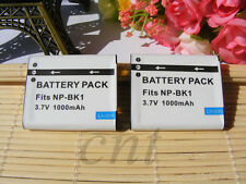 2x Battery For Sony NP-BK1 Cyber-Shot DSC-W180 W190 S650 S750 S780 S950 S980