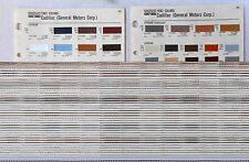 1982 CADILLAC SHERWIN WILLIAMS  COLOR PAINT CHIP CHART ALL MODELS ORIGINAL