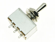 LP Metal Sealed Box Style 3 Way ON/ON/ON Toggle Switch Chrome Tip fits Les Paul
