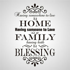 Wall Stickers home family blessing Removable nursery Vinyl Decal Art Mural Decor