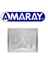 1 DOPPIO CHIARO CUSTODIA DVD SLIM 7mm DORSO NUOVO RICAMBIO COPERTURA fianco a fianco Amaray