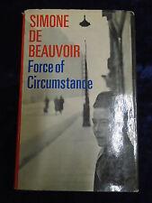 FORCE OF CIRCUMSTANCE by SIMONE DE BEAUVOIR-ANDRE DEUTSCH-1965 H/B UK POST £3.25