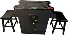 Cocktail Arcade Machine With 60 Games 2 FREE Benches