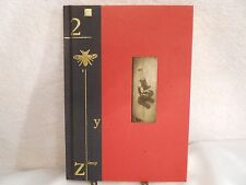 Lined Journal Black Spine with Gold Stamping Red Paper Cover with Microscope