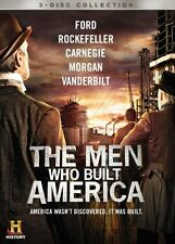 The Men Who Built America (History Channel Mini-Series) BRAND NEW 3-DISC DVD SET
