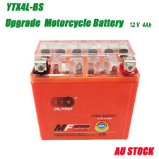 GEL SEALED ATV MOTORCYCLE SCOOTER TRACTOR/MOWER BATTERY 12V YTX4L-BS 50CCA