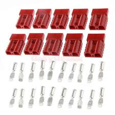 10pcs Red 50A 8AWG Battery Quick Connect/Disconnect Winch Connector Plug
