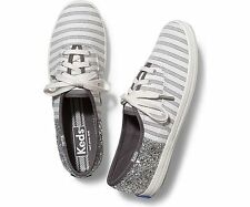 Keds Champion Stripe/Glitter Casual Sneakers Color: Grey/Silver (Size: U.S 7)