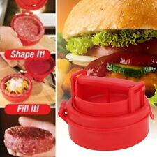 NEW Burger Press Hamburger Meat Beef Grill BBQ Cooking Maker Kitchen Mold