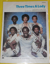 Three Times A Lady – The Commodores 1978 Early Sheet Music! Great Cover! See!