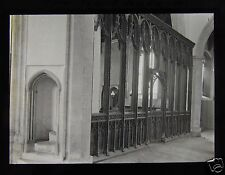 Glass Magic Lantern Slide CAWSTON CHURCH NORFOLK ROOD SCREEN C1900 ENGLAND