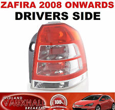 VAUXHALL ZAFIRA B 08  BACK REAR LIGHT LENS DRIVERS OFF SIDE SRI CDTI ECOFLEX