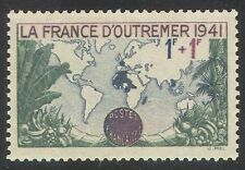 France 1941 Map/Empire/Relief Fund/Fruit/Trees/Nature 1v (n33143)
