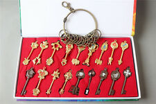 Fairy Tail Lucy Cosplay 18PCS Celestial Spirit Gate Keys Keychain with gift box