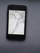 Apple iPod 8GB Black/ Silver Turns On/ Cracked Screen For Parts or Repair