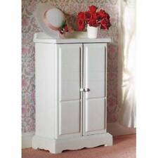 Small White Wardrobe, Bedroom Nursery Miniature Furniture 1.12th Scale