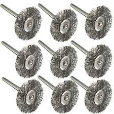 10pcs 3mm Steel Wire Wheel Brushes Cup Rust Rotary Tools For Dremel Accessories