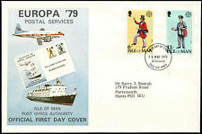 Isle Of Man 1979 Europa, Postal Services FDC First Day Cover #C16092