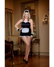 Dreamgirl Women's Sexy Maid Me Dirty Lingerie Costume Set New Adult Plus Size