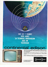 PUBLICITE ADVERTISING  1963   CONTINENTAL EDISON  téléviseur