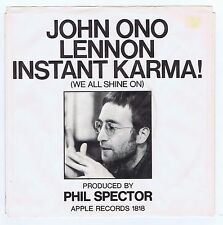 John Lennon 45 Instant Karma 1970 NOS BB #3 USA Apple 1818 G. Harrison Guitarist