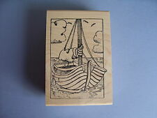 CREATIVE IMAGES RUBBER STAMPS CISTAMPS BOAT SCENE STAMP