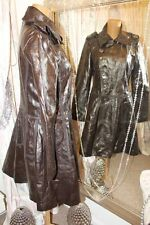 Red or Dead Dandy Brown Faux Leather Frock Coat - Ditsy Vintage Steampunk 12