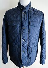 $2925 NEW LORO PIANA Navy Journey Windmate 100% Cashmere Storm System Coat Large