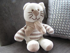 Card Factory Tiny Treasures knitted cream cat new with tags