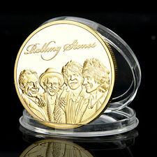 Rolling Stones Münze Gold Medaillie Silver Coin Mick Jagger Keith Richards Iron~