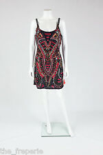 *FOREVER UNIQUE* ROXY ART DECO SEQUINNED MINI PARTY DRESS UK 14