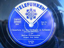 78rpm ERICH KLEIBER cond. MEYERBEER Ein Feldlager in Schlesien - TOP CONDITION !