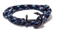 Anchor Bracelet Nautical Paracord Men Women Fashion Adjustable Hand Made USA