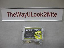 Epson 125 Yellow Ink Cartridge T1254 New Genuine Factory Sealed Bag