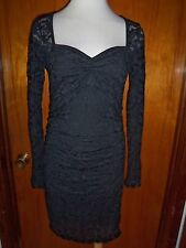 Victoria's Secret Moda International Sweetheart Neck Lace Ruched Dress M New