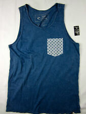 Rip Curl Surf Custom fit soft pocket Tank top men's blue size SMALL