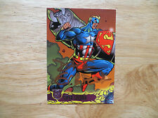 1996 AMALGAM SUPER SOLDIER VS NAZI METALLO CARD SIGNED BY DAVE GIBBONS, WITH POA