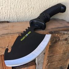 "10.5"" TACTICAL SURVIVAL TOMAHAWK THROWING AXE BATTLE Hatchet knife hunting BLK"