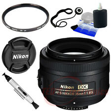 Nikon AF-S DX NIKKOR 35mm f/1.8G Lens for Nikon DSLR+ UV + Lenscap Holder New