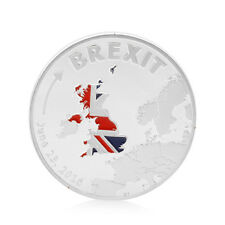 Silver Plated Cook Islands Brexit Commemorative Coins Collection Physical Gift