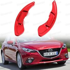 Red CNC Steering Wheel Paddle Shift DSG Extension for Mazda 3 2014 2015 2016 Up