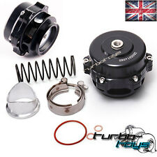 UNIVERSAL 50MM BLACK V BAND TURBO SUPER CHARGE BLOW OFF BOV DUMP VALVE KIT