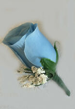 Rose Boutonniere ~ YOUR COLORS ~ Artificial Silk Wedding Flowers Prom Groom New!