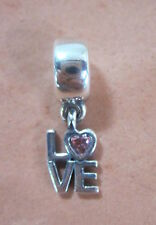 AUTHENTIC PANDORA 791253CZS LOVE FANCY PINK CZ BEAD BRAND NEW SILVER CHARM