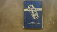 Electricity Basic Navy Training course book pamphlet 1945 380 pages WWii era