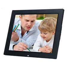"15"" LED Black HD High Resolution Digital Picture Photo Frame + 8GB TF Card"