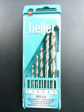 6 piezas de Calidad Heller German HSS-Co Cobalto Drill Bit Set 2mm 3mm 4mm 5 6 8mm
